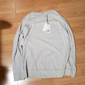 Distressed Helmut Lang Ivory Sweater  XL